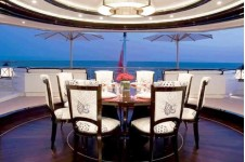 Oceanco Motor Yacht ALFA NERO - Aft Deck Dining